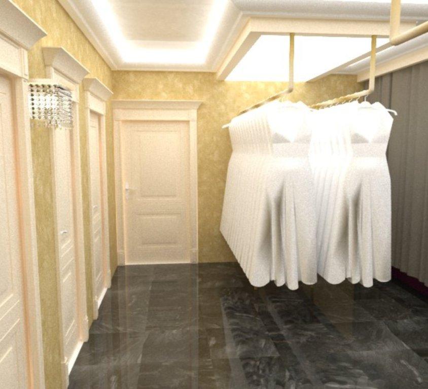 Rūbų parduotuvės interjeras