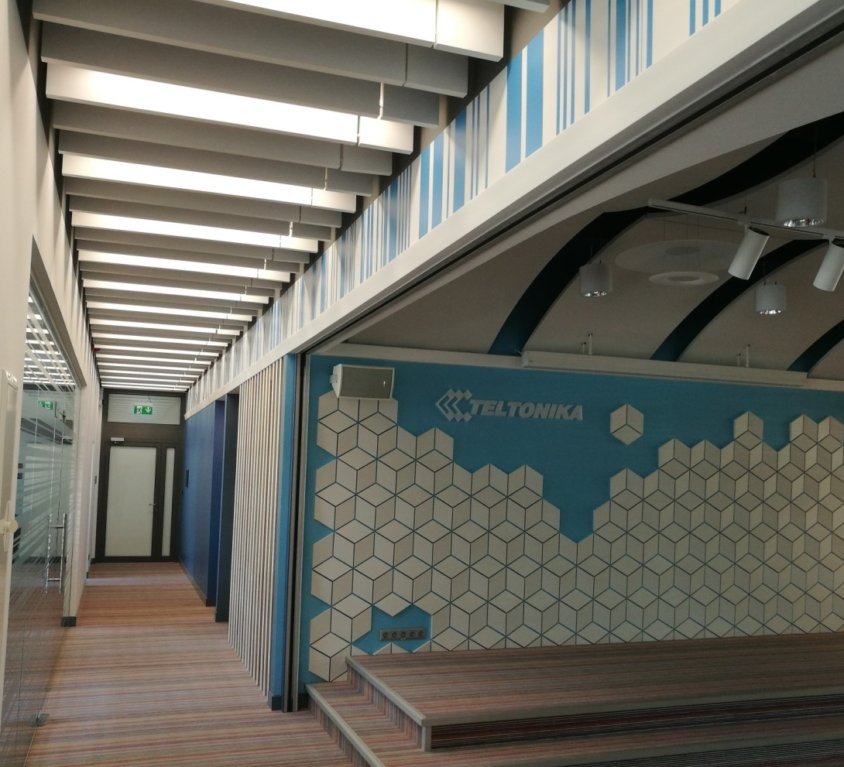 Verslo centras LINK 1 aukšto biuro patalpų interjeras